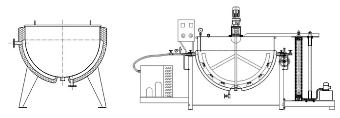 steam jacketed kettle diagram